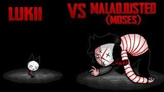 Isaac Afterbirth Plus - Lukii vs Maladjusted (Moses) (Reskin Mod).