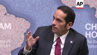 Qatari FM defends ties with Iran in UK speech