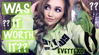 WAS IT WORTH IT??? 😱😱 // EVETTEXO MERCH 💚💚// MY REVIEW // HONEST OPINION // AMBER LUCERO