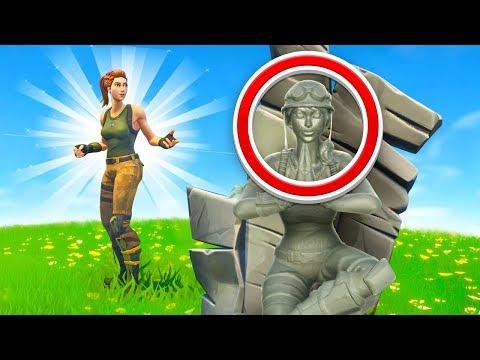 Fortnite I Am Stone Challenge Very Broken