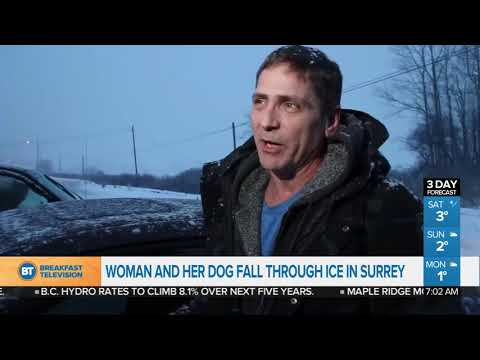Xxx Mp4 Woman And Her Dog Fall Through Ice In Surrey 3gp Sex