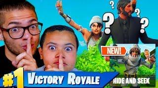 *NEW* HIDE & SEEK CUSTOM GAME MODE IN FORTNITE BATTLE ROYALE! (FUNNY!) *NEW* SEASON 5 MODE!