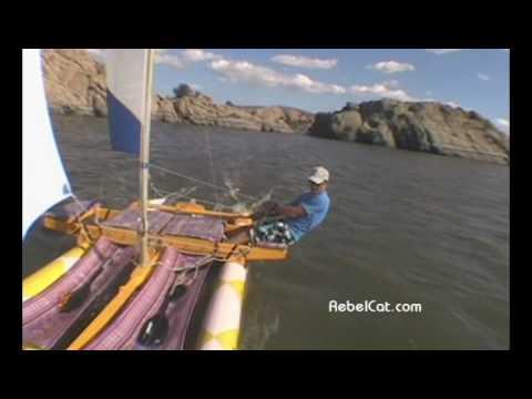 PVC Pipe Catamaran Sailboat RebelCat 5 on the MOVE