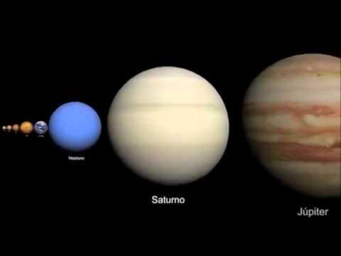 Comparacion tamaño planetas estrellas