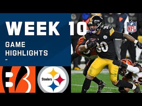 Bengals vs. Steelers Week 10 Highlights NFL 2020