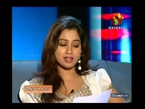 Shreya ghoshal malayalam interview , singing anuraga vilochananayi