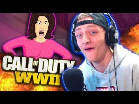 MOM vs CHILD! Voice Impression on COD WW2! (Hilarious Reactions!)