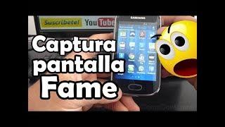 Cómo hacer una captura de pantalla android samsung Galaxy Fame S6810 español Full HD
