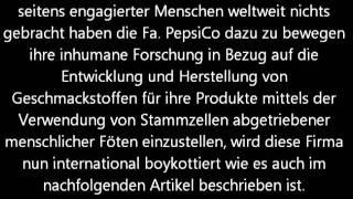 Pepsi Cola Boykott - Menschliche Stammzellen in Brause