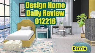 Design Home Daily Review - Challenge Reviews for 012218