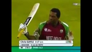CHRIS GAYLE 1st century in T20 Cricket (117 of 57)vs SA.2007