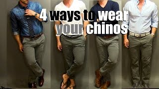4 Ways To Wear Your Chinos | A Chino Tutorial