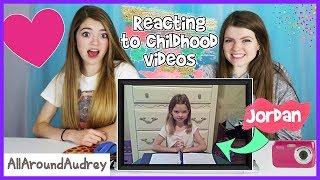 Reacting To Our Childhood Videos / AllAroundAudrey