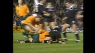 1994 Bledisloe Cup: JASON LITTLE scores opening minute try
