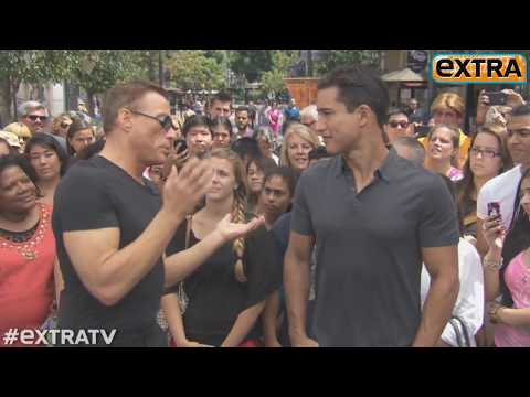 Jean Claude Van Damme Shows Off His Moves at The Grove