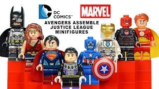 DC & Marvel Justice League & Avengers LEGO KnockOff Minifigures Set 24 w/ Superman & Captain America