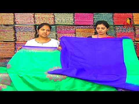 Xxx Mp4 Peacock Green Color Designer Saree With Contrast Blouse New Arrivals Vanitha TV 3gp Sex