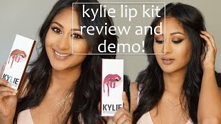 Kylie Lip Kit Review and Lip Swatches on Indian Skin! | Makeup By Megha