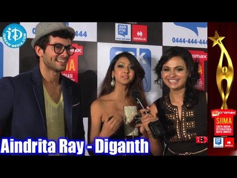 Aindrita Ray Speaks about her Boyfriend @ SIIMA 2014 Awards Red Carpet