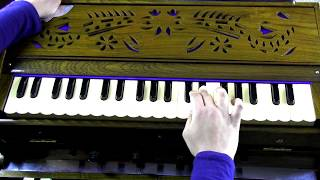 How to play - Hare Krishna Hare Rama on Harmonium (with notes)
