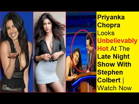Priyanka Chopra Looks Unbelievably Hot At The Late Night Show With Stephen Colbert | Watch Now