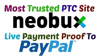 NEOBUX Payment proof |The Most Trusted PTC Site