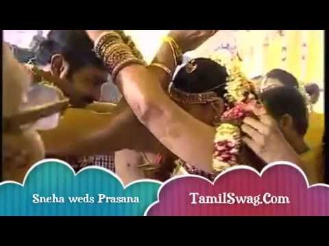 TAMIL ACTRESS SNEHA WEDS PRASANA - WEDDING CEREMONY EXCLUSIVE VIDEO 2012