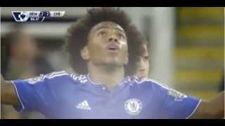 Willian Free Kick Goal Vs Newcastle