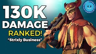 Paladins: Strix Gameplay and Loadout! UNDEFEATED IN RANKED! 130K Damage!!