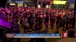 Elliston Place Street Fest Goers Brave The Heat