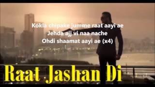 RAAT JASHAN DI-LYRICS