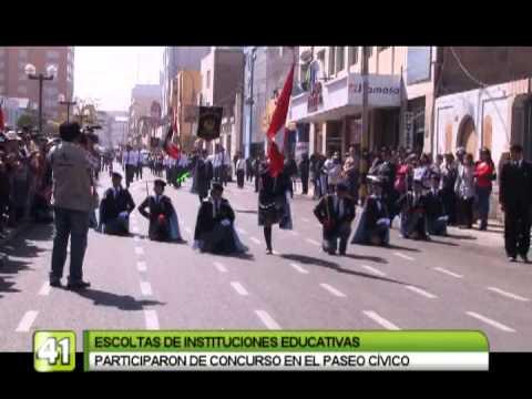 ESCOLTAS ESCOLARES PARTICIPARON DE CONCURSO