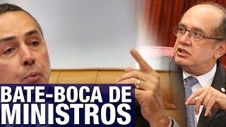 Sessão do STF sobre delação da JBS tem bate-boca acalorado entre Gilmar Mendes e Barroso