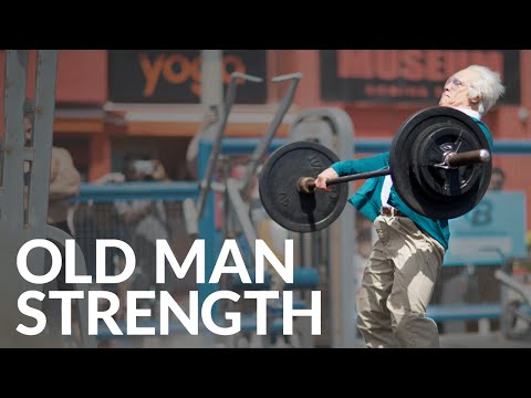 Old Man Strength At Muscle Beach