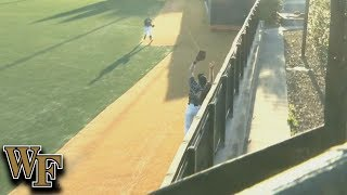 Wake Forest OF DJ Poteet Steals Home Run From Clemson