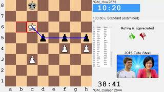 Magnus Carlsen vs Hou Yifan  BEST MATCH OF THE TOOURNAMENT