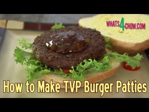 How to Make TVP Vegetarian Burger Patties - Textured Vegetable Protein Burger Patties