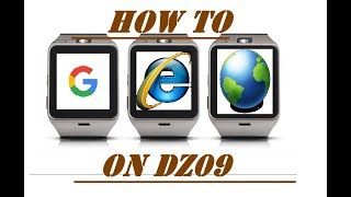 How to Browse On SMARTWATCH DZ09!{HINDI}