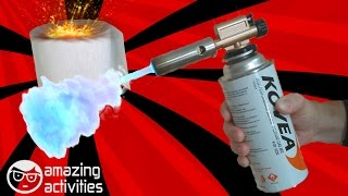 Toilet paper vs gas torch. Experiments with paper.
