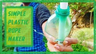 Plastic rope maker using sharpener from PET bottle - Simple