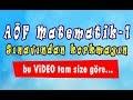 AÖF Matematik-1  /  Hızlı konu anlatımı - 1. video