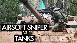 Airsoft War with Tanks - Sniper Scopecam Gameplay - Russian Strikeball Wargame 9