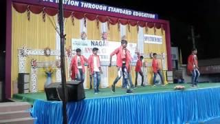 Nagarjuna model school dance by 9thclass boys at 2017
