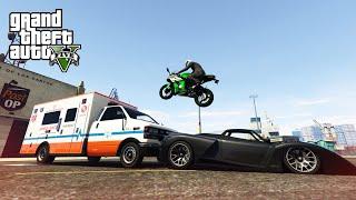 LUCKIEST STUNT EVER! - (GTA V Stunts & Fails)