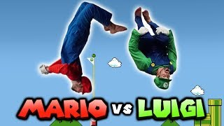 Super Mario VS Luigi In Real Life (Parkour, Tricking)