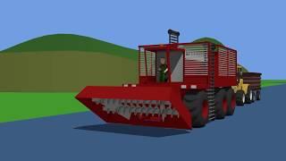 Tractor Farm work - Sugar Beet Harvester | Traktory Prace na Farmie - Zbiór Buraków Bajki 3d