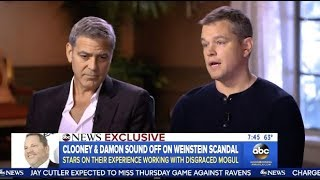 Matt Damon & George Clooney Talk Weinstein Scandal (GMA)