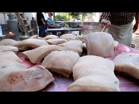 河南农村传统结婚酒席,一次要用一头猪,大碗装的� 是肉,真霸气