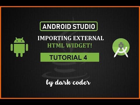 Dark Coder | External HTML/Website Widget in Android Studio | Android Studio Tutorial 4