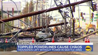 Thousands left without power in Seattle area